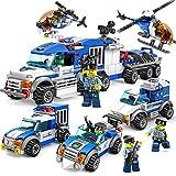 Wekold Heavy Duty Kinder Bunte Bausteine Set, langlebige Früherziehung Montage Polizei Auto Spielzeug (zufällige Art)