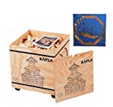 Kapla 1000 Holzkiste mit Kunstbuch Blau (6+)