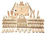 CreaBLOCKS Holzbausteine Grundausstattung (120 unbehandelte Bauklötze) (in der Schiebedeckelkiste) Made in Germany