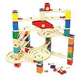Hape E6009 - Quadrilla Vertigo, Kugelbahn, Konstruktionsspielzeug, aus Holz, ab 4 Jahren