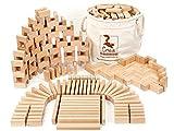 CreaBLOCKS Holzbausteine Großes Grundpaket ( unbehandelte Bauklötze) Made in Germany